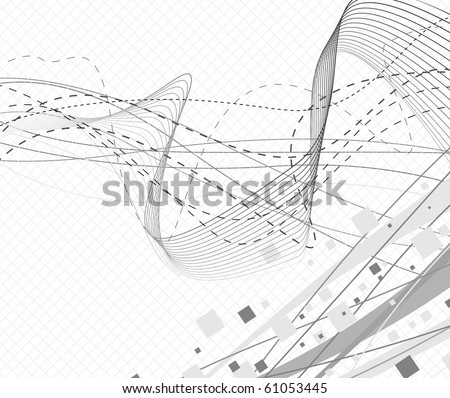 Geometrical hi-tech abstract background. Vector illustration - stock vector