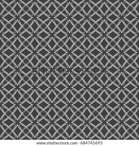 Geometrical Monochrome Seamless Pattern Gothic Style Wall Paper For The Press