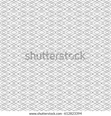Geometrical, monochrome seamless pattern.  Vector illustration. Simple linear style. Symmetric element.