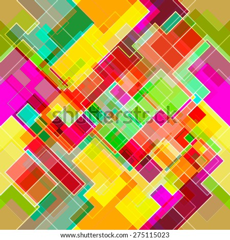 Geometrical seamless square background. Vector illustration