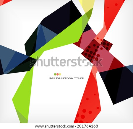 Geometrical unusual pattern - business abstract modern design - stock vector