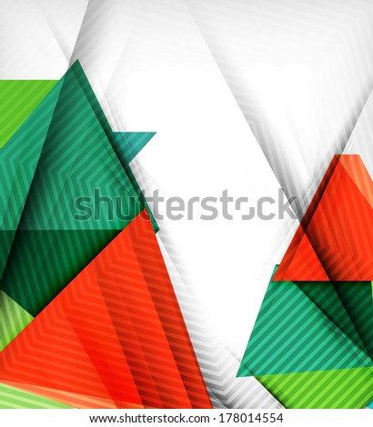 Geometrical vector abstract background. For infographics, business backgrounds, technology templates, business cards - stock vector