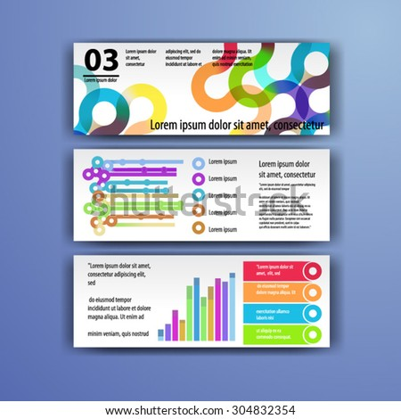 Geometry brochure template design with circles. Cover layout and infographics - stock vector