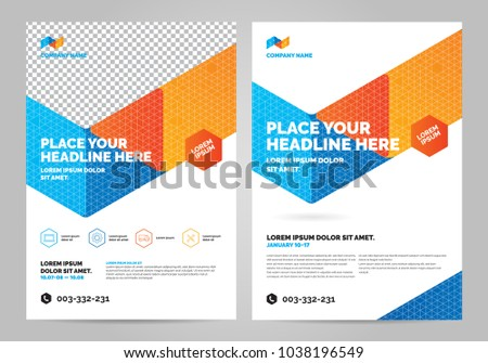 geometry colorful brochure layout template cover design background annual reports can be adapt