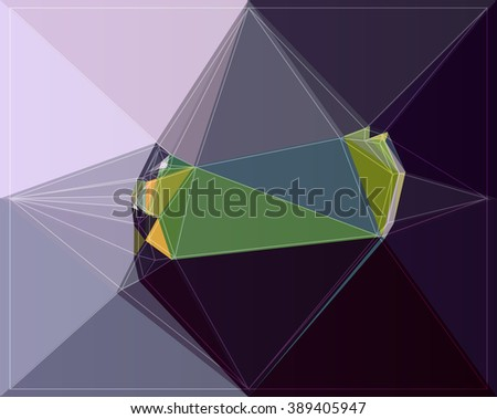 geometry illustration pattern triangle polygon modern element