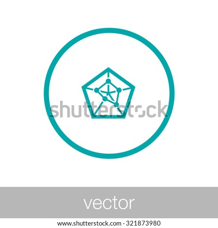 Geometry power graph - Spider web diagram - Concept flat style design illustration icon - stock vector