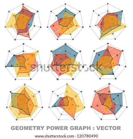Geometry power graph : vector - stock vector