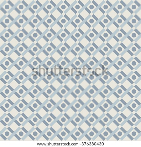 geometry rhombus vector seamless pattern with lines and dots