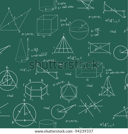 Geometry seamless pattern. Tile for endless background