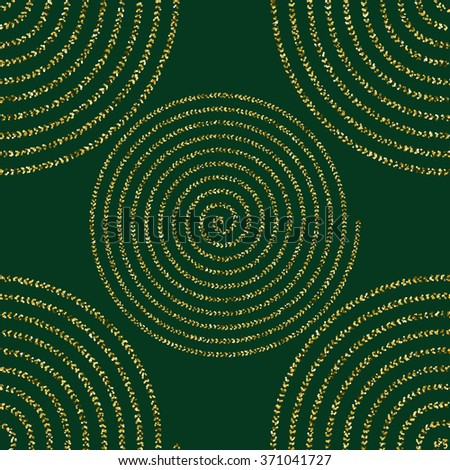 geometry seamless  pattern  with golden glitter, vector image.