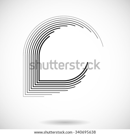Geometry Shapes . Technology Shape, Lines in Abstract Form . Vector Illustration .Technology Geometric Logo . Vector . - stock vector