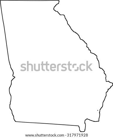 Georgia Stock Images RoyaltyFree Images Vectors Shutterstock - Georgia map drawing