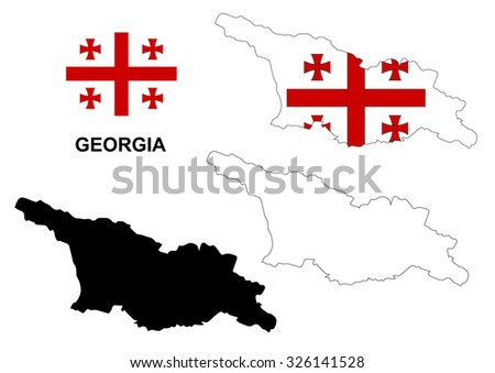 Georgia Map Stock Images RoyaltyFree Images Vectors Shutterstock - Georgia map picture