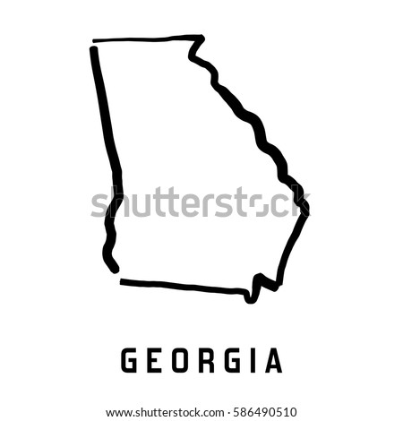 Indiana State Map Outline Smooth Simplified Stock Vector Us Map Shape