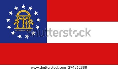 Georgia state national flag. Vector EPS8 - stock vector