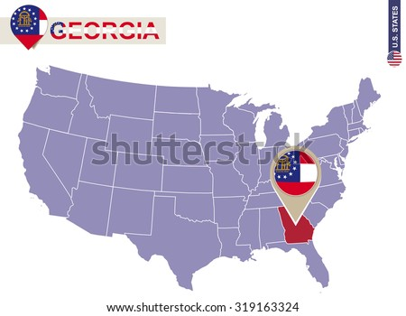 Atlanta Map Stock Images RoyaltyFree Images Vectors Shutterstock - Georgia map us