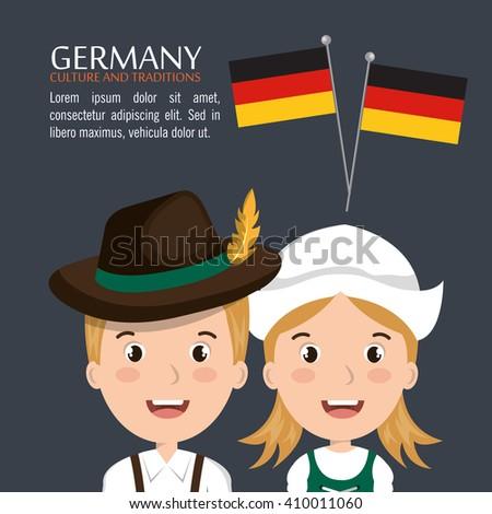 German culture design  - stock vector