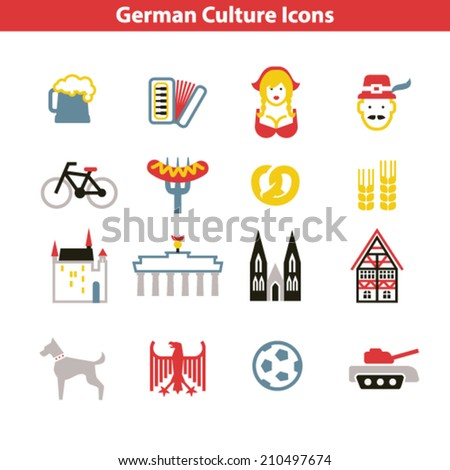 German Culture Icon Set