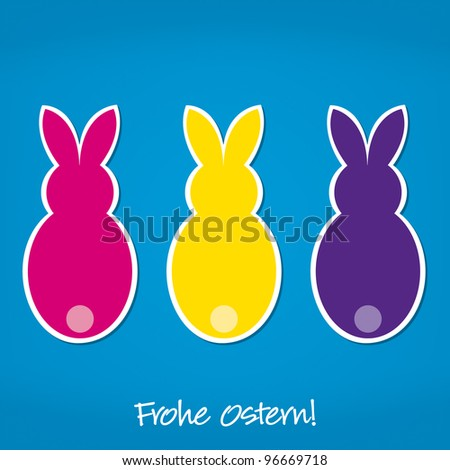 German Easter Bunny card in vector format. - stock vector