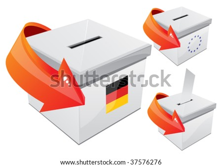 German elections, the selection box - stock vector