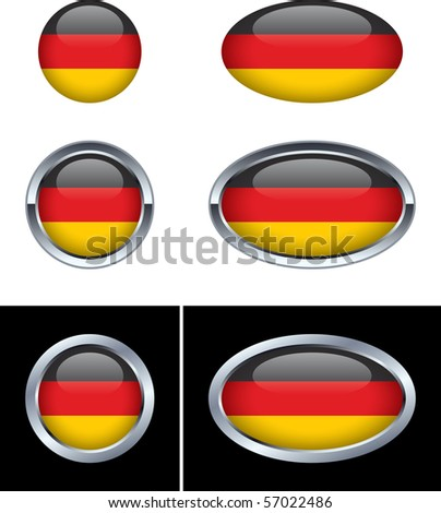 German Flag Buttons