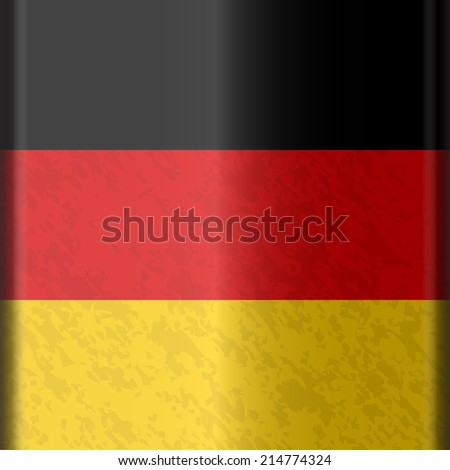 German flag in a square shape