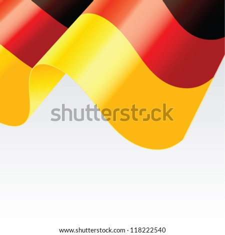 German flag vector illustration - stock vector