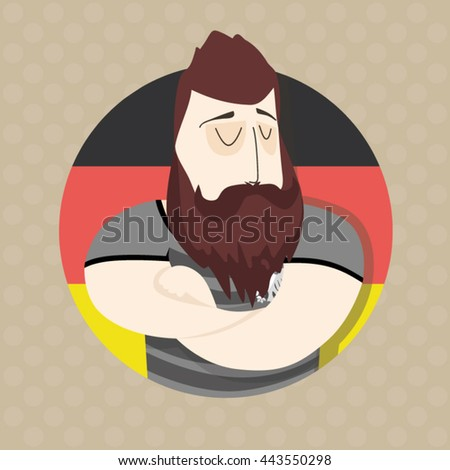 German football player  - stock vector