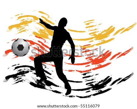 german football - vector