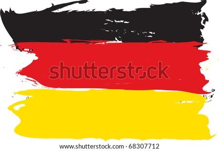 German grunge flag - stock vector