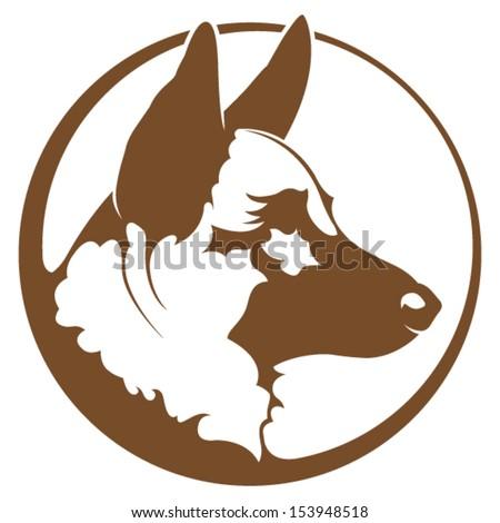 German Shepherd Illustration - stock vector