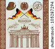 German Symbols Vintage Set - stock photo