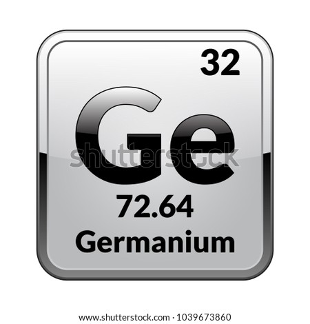 Germanium symbolchemical element periodic table on stock photo chemical element of the periodic table on a glossy white background in a urtaz Gallery
