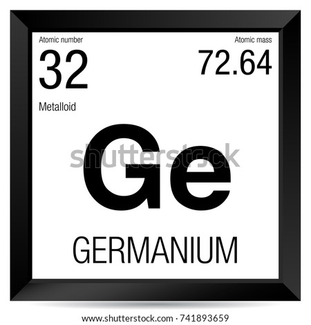 Germanium Symbol Element Number 32 Periodic Stock Vector 741893659