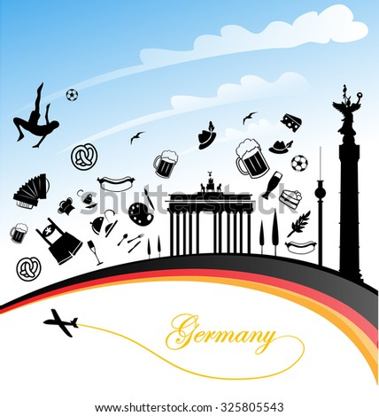 germany background with flag and symbols