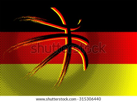 Germany  basket ball, vector