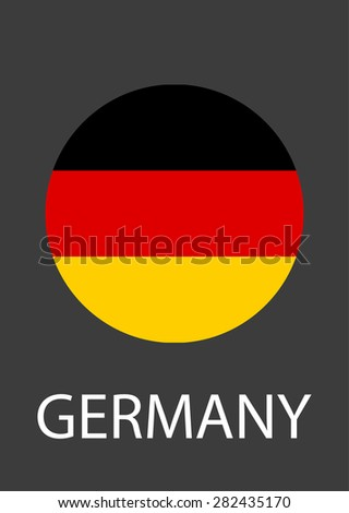 Germany circle flag - vector icon