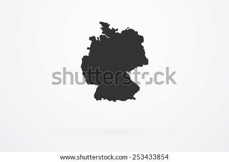 Germany Country Vector Map - stock vector