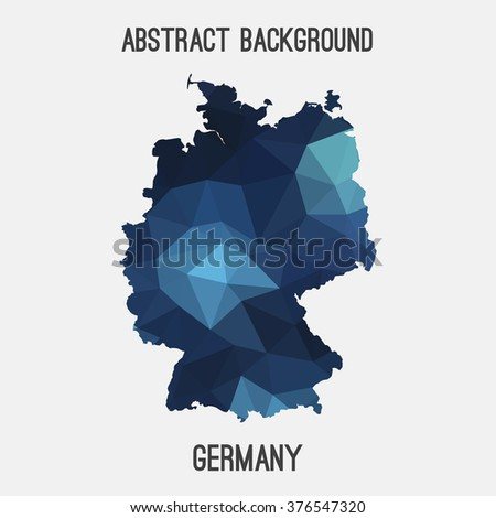 Germany,Deutschland map in geometric polygonal style.Abstract tessellation,modern design background. Vector illustration EPS8 - stock vector