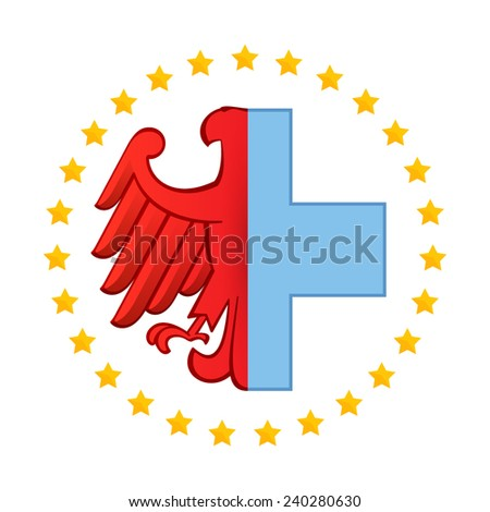 Red Cross Germany Red Cross Stock Vector