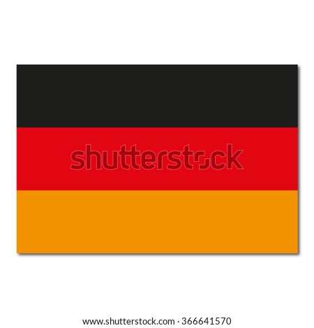 Germany Flag Icon Button - stock vector