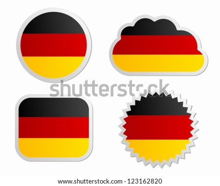 Germany flag labels