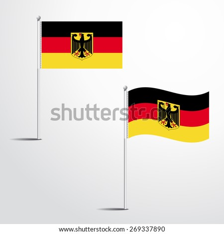 Germany flag normal and waving flag set | abstract flag vector eps 10 - stock vector