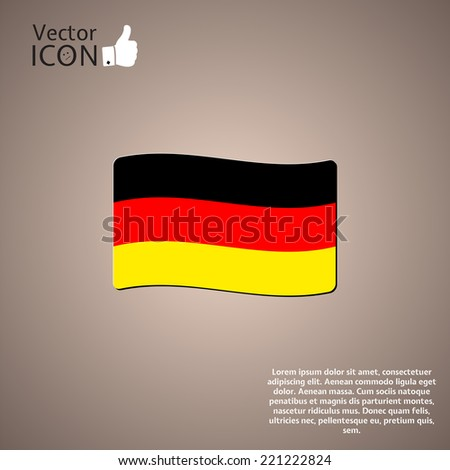 Germany Flag on a Background. Made in vector - stock vector