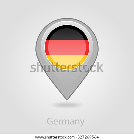 Flag Icon Design Stock Vector Shutterstock - Germany map eps