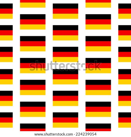 Germany flag seamless pattern on white background. Vector illustration.