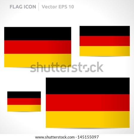 Germany flag template | vector symbol design | color black red and yellow | icon set