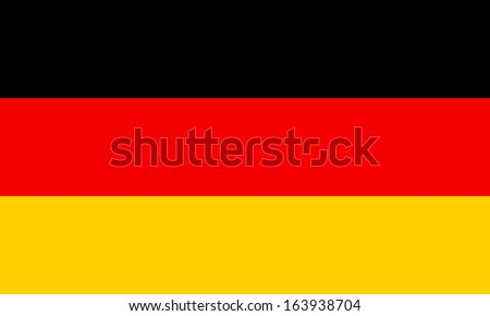 Germany flag. The colors and proportions of the original. Vector illustration. - stock vector