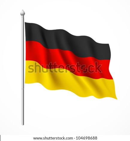 Germany flag, vector illustration - stock vector