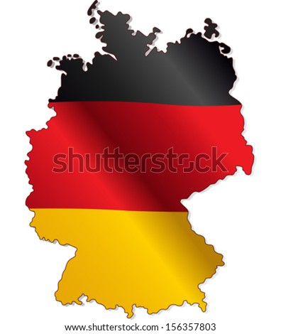 Germany Flag within the country borders